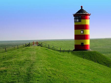 Lighthouse, Pilsum, East Frisia, Lighthouse Otto
