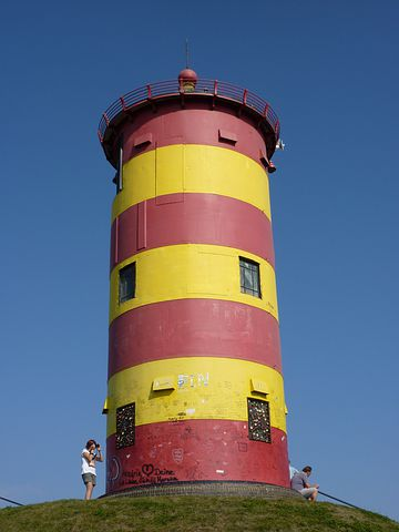 Lighthouse, Otto Walkes, Red, Yellow