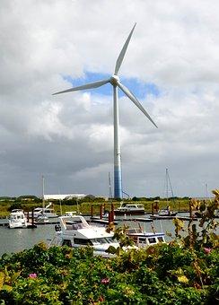Pinwheel, Wind Energy, Wind Power, Borkum Harbor