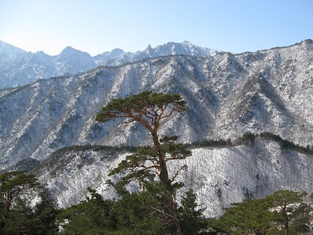 Mt Seoraksan, Snow And Rock, Ulsan Rock
