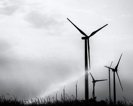 Windräder, Sprenkler, Water, Energy, Garzweiler