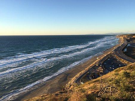 Beach, Surf, Ocean, San Diego, California, Torrey Pines