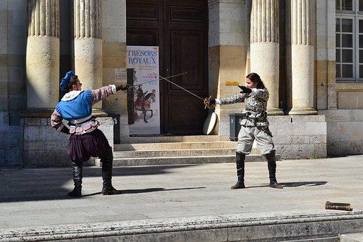 Fencing, Former Fencing, Château De Blois, Royal Castle