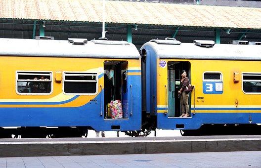 Transportation, Train, Indonesia, Java