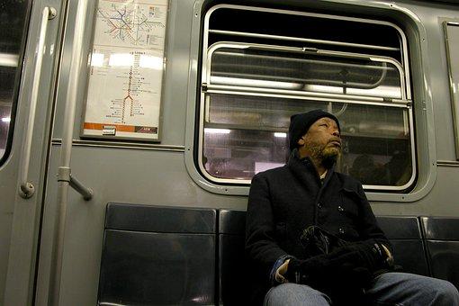 Metro, Milan, Man, Solitude
