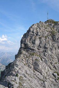 Rough Horn, Climbing Spot, Steep, Rocky, Summit Cross