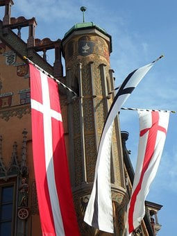 Flags, Colours, Flutter, Town Hall, Ulm, Ulmer Hall