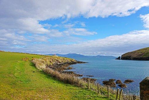 Dingle, Ireland, Ocean, Landscape, Shoreline, Sunny Day