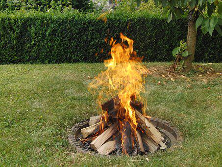 Grill Fire, Barbecue, Fireplace, Fire, Garden, Kindle