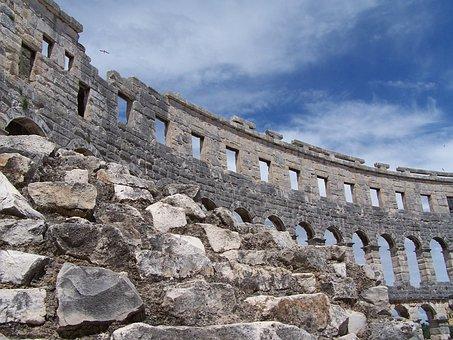 Colosseum, Pula, Croatia, Europe, Culture, Roman, Arch