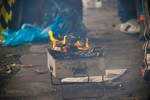 Barbecue, Coal, Picnic, Chicken, Embers, Pepper, Tomato