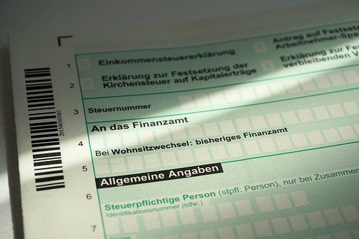 Tax Return, Control, Tax Office, Form, Finance, Money
