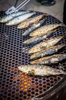 Fish, Grilling, Cooking, Fire, Grilled, Barbecue, Meal