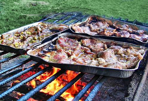 Grill, Grilling, Meat, Frying, Picnic, Eating, Eat