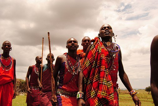 Masai, Dance, Tribe, Men, Africa, Red Clothes