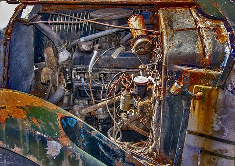 Motor, Stainless, Rusted, Technology, Old, Vehicle