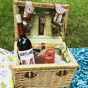 Picnic, Wine, Cheese, Park, Relaxation, Nature