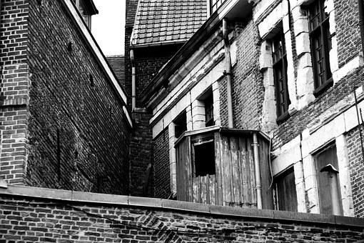Lille, Black And White, City, France