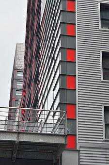 Red, City, Lille, North, Europe, France, Window
