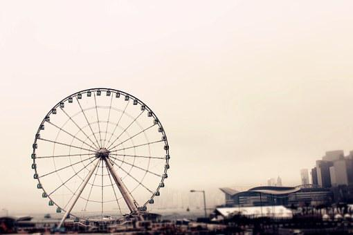 Hong Kong, The Ferris Wheel, Central Pier