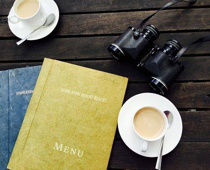 Binoculars, Breakfast, Caffeine, Cappuccino, Coffee