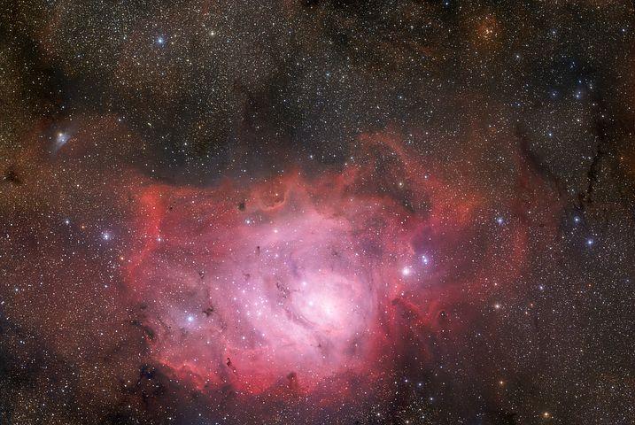 Lagoon Nebula, Messier 8, Ngc 6523, Emission Nebula