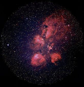 Ngc 6334, Galaxy, Cat Pfote Fog, Bear Claw Nebula