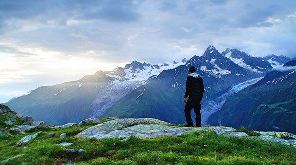 Adventure, Clouds, Hike, Hiker, Landscape, Mountain