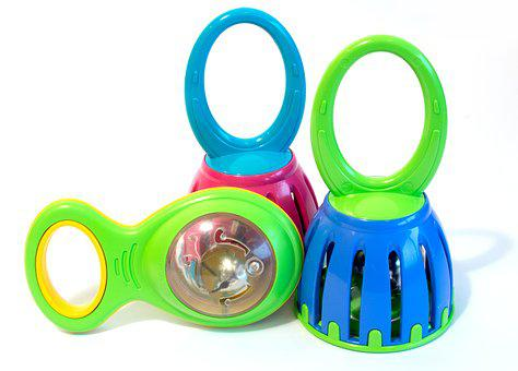 Bells, Cage Bells, Toy, Infant, Play, Colorful