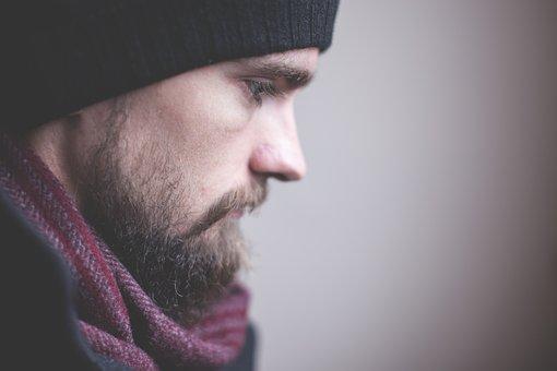 Adult, Beard, Face, Fashion, Guy, Man, Model, Profile