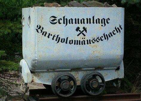 Transport Cart, Labeled, Note, Museum, Brand-erbisdorf