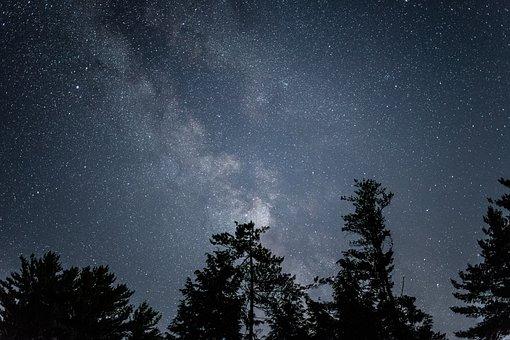 Galaxy, Milky Way, Nature, Night, Sky, Stars, Summer