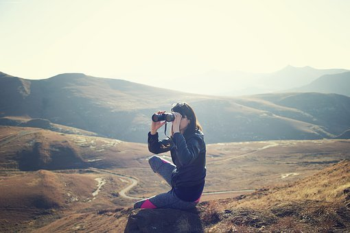 Adventure, Binoculars, Exploration, Hike, Hills