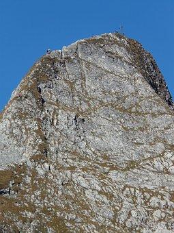 Höfats, East Summit, Summit Cross, Mountains, Summit