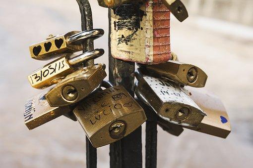 Locks, Love Locks, Macro, Outdoors, Padlocks, Steel
