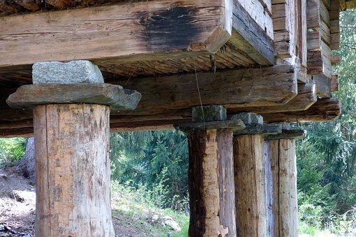 Stilt Houses, Celts Village, Memory, Wood Columns