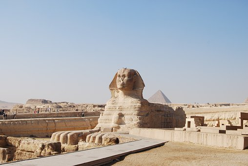 Sphinx, Gizeh, Egypt, Statue, Monument, Pyramids