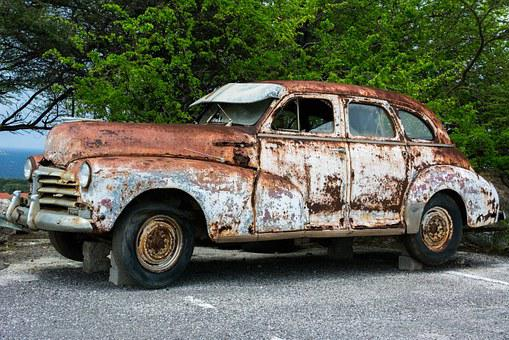 Vintage Car, Rusty, Old, Classic Car, Automobile, Decay