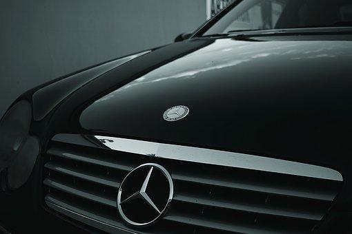 Automobile, Automotive, Benz, Black, Car, Chrome