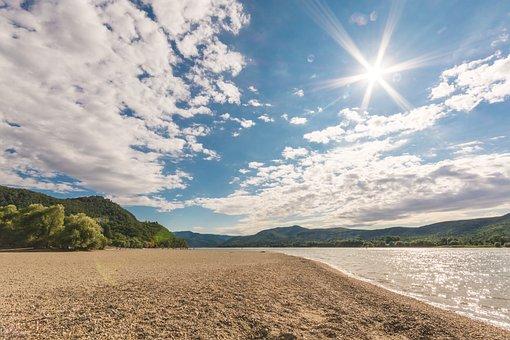 Summer, Day S, Hot, Sunshine, River, Part, Hungary