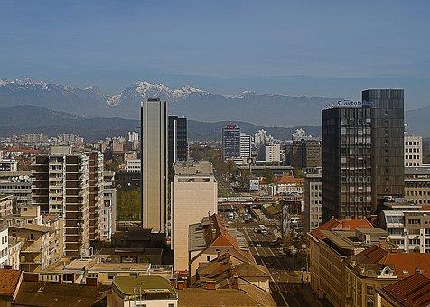Panorama Of The City, Pyran City, Skyscrapers