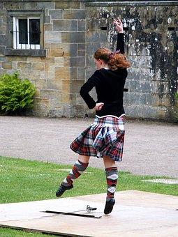 Girl, Kilt, Dancer, Highland, Sword, Scotland, History