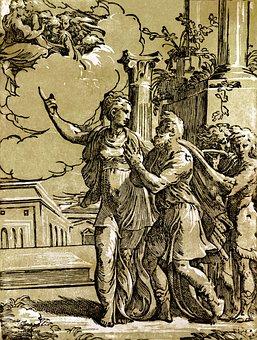 Woodcut, Tiburtinische Sibyl, Antonio Da Trento