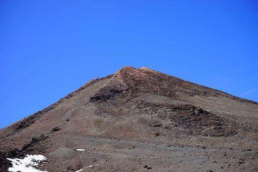 Teide, Summit, Rise, Path, Lava, Lava Flow, Basalt