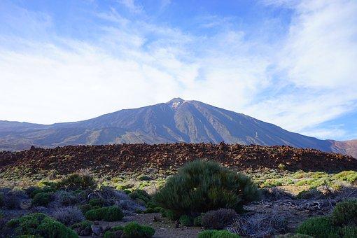Lava Flow, Enormous, Lava, Basalt, Teide, Mountain