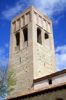 Arevalo, San Martin, Spain, Church, Tower, Building