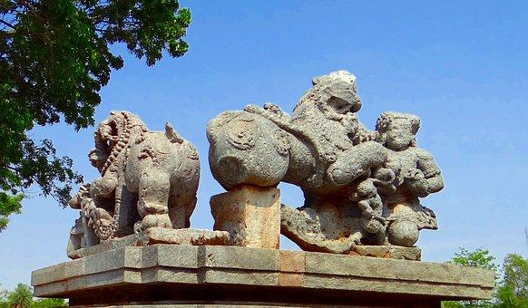 Sculpture, Temple, Hindu, Halebidu