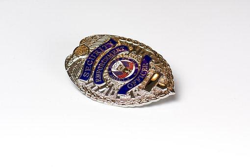 Badge, Cop, Security, Pin, Law, Symbol, Policeman