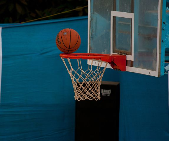 Basketball, Net, Ball, Ring, Balanced, Game, Sports