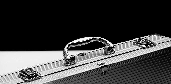 Aluminum, Briefcase, Business, Case, Chrome, Durable